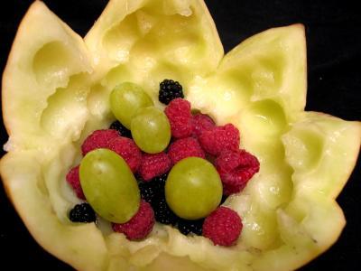 Melons farcis aux fruits - 4.1