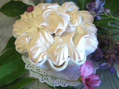 martini blanc : Coupe de salade meringuée de melon