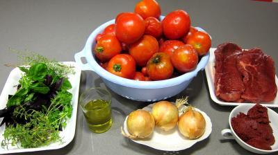 Ingrédients pour la recette : Conserve de sauce tomate à la bolognaise