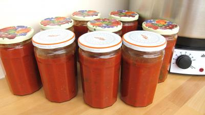 Recette Pots de conserve de sauce tomate  la bolognaise