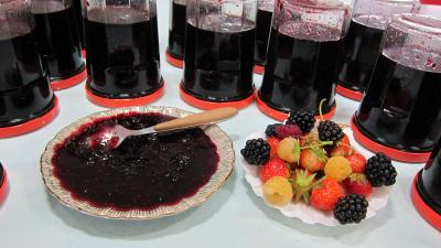 Confitures : Coupelle de confiture de fruits rouges