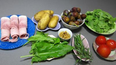Ingrédients pour la recette : Salade de figues à l'estragon
