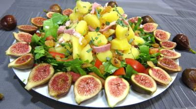Recette Assiette de salade de figues  l&#39;estragon