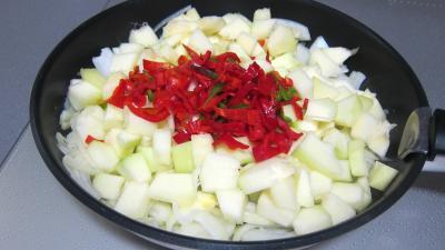 Tarte aux courgettes et piment doux - 4.3