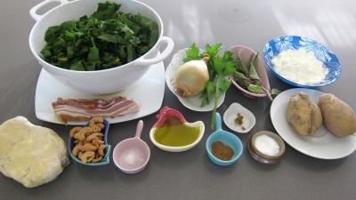 Ingrédients pour la recette : Samossas aux blettes et à la sauge
