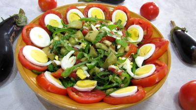 Recette Aubergines crues en salade