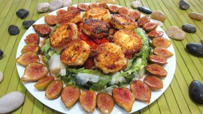 pâtisson : Assiette de crottins de chèvre en salade