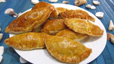 pâtés variés : Assiette d'empanadas au jambon