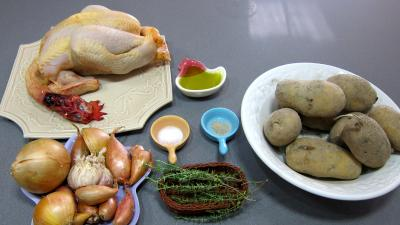 Ingrdients pour la recette : Poulet au four