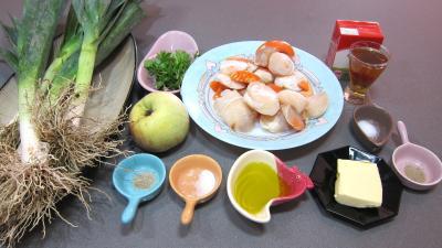 Ingrédients pour la recette : Coquilles Saint-Jacques à la honfleuraise (Normandie)