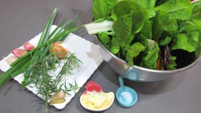 Ingrédients pour la recette : Bettes à la poêle