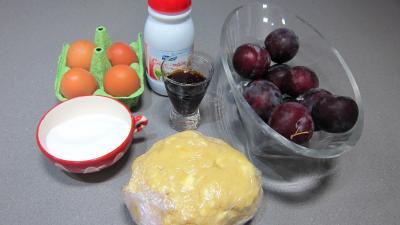 Ingrédients pour la recette : Tarte aux prunes