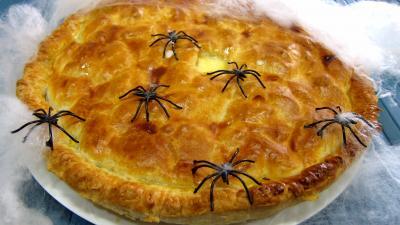 Tourte : Poirat du Berry et sa crème poivrée avec ces araignées