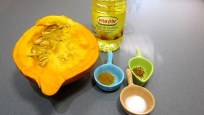 Ingrédients pour la recette : Frites de potimarron et son boudin
