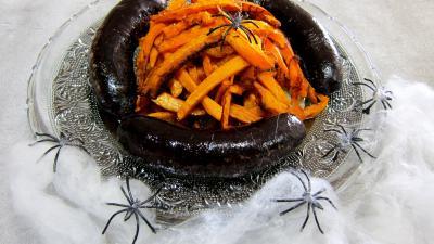 Abats : Assiette de frites de potimarron et son boudin