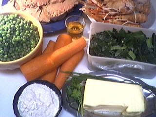 Ingrédients pour la recette : Foie gras aux langoustines
