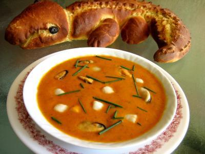 Recette Assiette de soupe de noix de Saint-Jacques