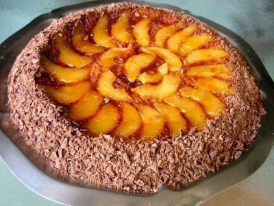 Recette Gâteau aux poires et sa crème au Grand Marnier