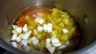 Epinards, carottes, poireau en velouté - 6.3