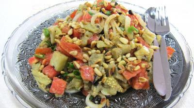 Recette Aubergines en salade au sésame