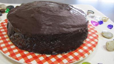 chocolat : Assiette de cheese cake au chocolat bananes
