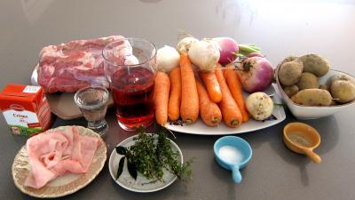 Ingrédients pour la recette : Cul de veau à la Montsoreau revisité