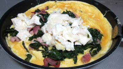 Omelette au chèvre et pissenlits - 6.4