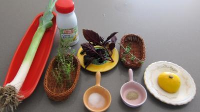 Ingrédients pour la recette : Sauce facile au poireau et citron