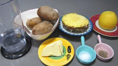 Ingrédients pour la recette : Purée à l'ananas