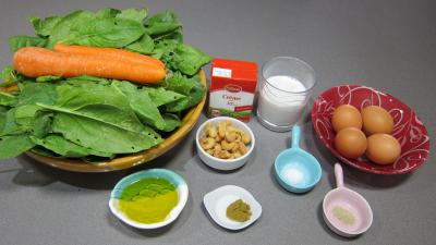 Ingrédients pour la recette : Epinards et oeufs à l'indienne à ma façon