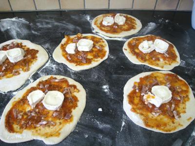 Mini-pizzas à la tomate et au chèvre - 8.3