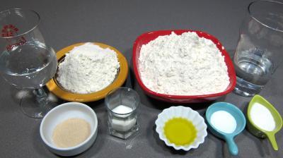 Ingrédients pour la recette : Focacia à la poolish