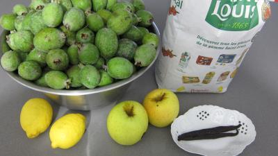 Ingrédients pour la recette : Confiture de feijoas à la vanille