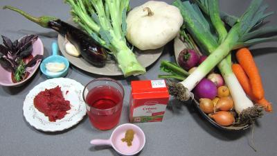 Ingrédients pour la recette : Soupe de brocolis et légumes