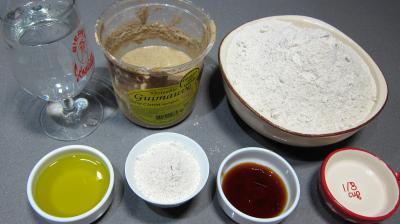 Ingrédients pour la recette : Galette de pain sans gluten au sarrasin