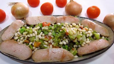 Image : Plat de haricots blancs aux tomates