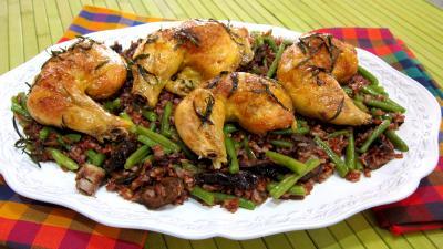 Image : Assiette de cuisses de poulet à l'estragon