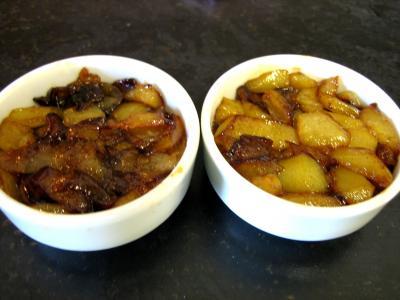 Lotte aux épinards et aux poires confites - 5.1