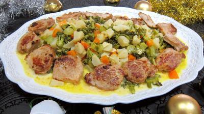 Filet mignon de porc aux topinambours - 9.4