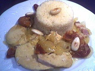 couscous : Assiette de dinde aux amandes