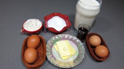 Ingrédients pour la recette : Crème pâtissière au beurre