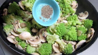 Coeurs de canard, légumes et sauce béchamel au vin rouge - 5.1