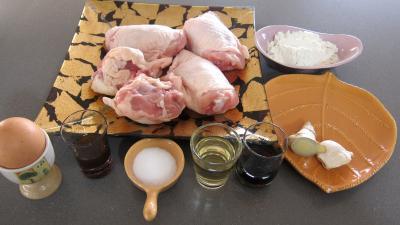 Ingrédients pour la recette : Cuisses de poulet frites à la chinoise