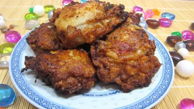 Cuisson au bain de friture : Assiette de cuisses de poulet à la chinoise