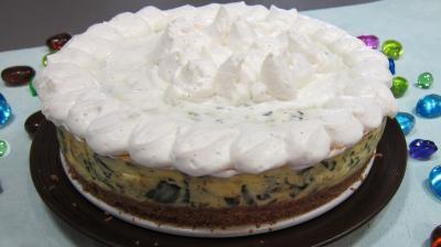 crème entière : Assiette d'épinards à la crème fouettée