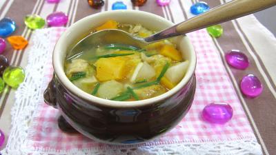 Recette Soupe de légumes aux navets