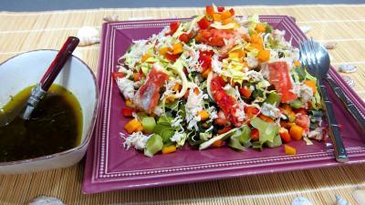 Vinaigrette à l'orange : Plat de poireaux en salade