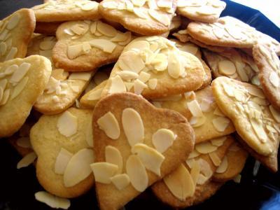 Recette biscuits de coeurs sablés aux amandes