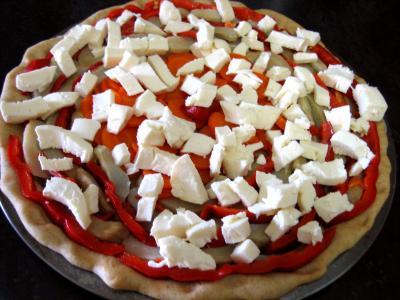 Pizza aux artichauts et mozzarella - 9.4