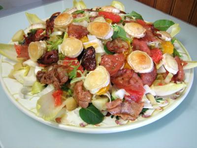 Recette Salade aux restes de pommes de terre vapeur et chèvre